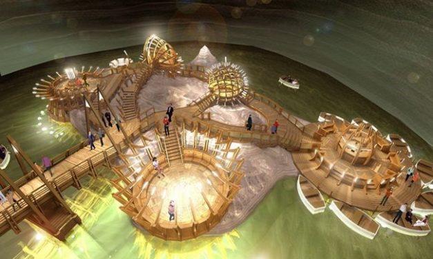 Parque de diversões dentro de uma mina de sal