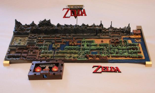 """""""The Legend of Zelda"""" Mapa Original impresso em 3D"""