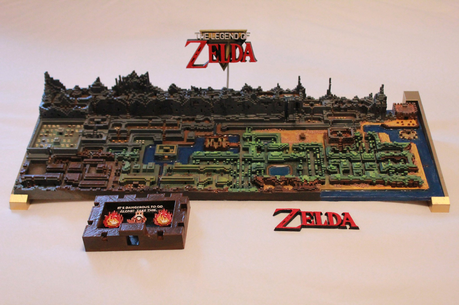 """The Legend of Zelda"" Mapa Original impresso em 3D"