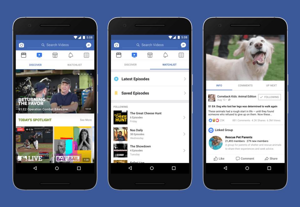 Futuro, Facebook Watch, aplicativo, funções, vídeos, seriados, live, live action, Netflix, Youtube, Spotify