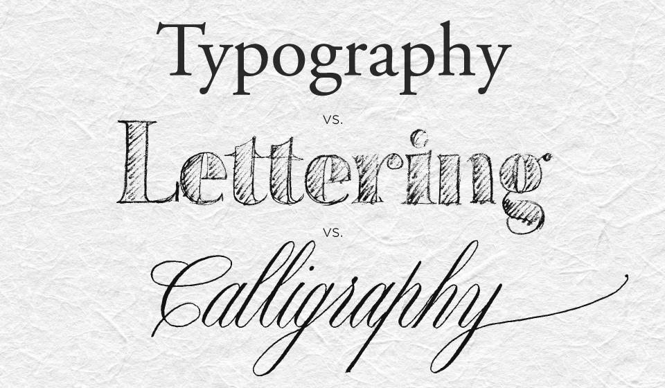 lettering, caligrafia e tipografia